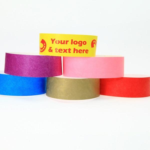 19mm One Colour Printed Custom Wristbands